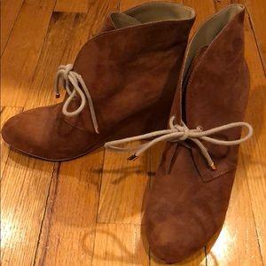 Brown Booties suede Size 38 Zara Trafaluc